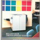Konica Color 7 Copy Machine Copier Advertising Brochure