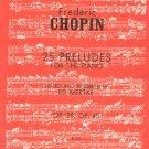 Frederic Chopin 25 Preludes Op. 28 Op. 45 Piano Kalmus Series 3332