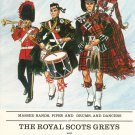 Souvenir Program Scarlet & Tartan Vintage 1962 Royal Scots Greys Plus