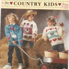 Bouquet Country Kids Chunky Weight Sweaters 6 Patterns Number 1218