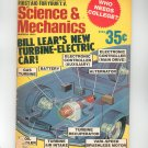 Science & Mechanics Magazine March 1971 Vintage Lear's New Turbine Electric Car