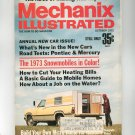 Mechanix Illustrated Magazine October 1972 Vintage 1973 Snowmobiles In Color