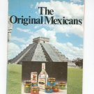 The Original Mexicans Cookbook Vintage 1972 Jose Cuervo