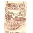 Mirro Old World Cake & Dessert Pan Cookbook Pamphlet Bundt Cakes