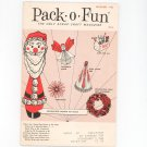 Pack O Fun Magazine December 1965 Vintage Christmas Decorations On Cover