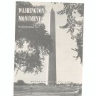 Vintage Washington Monument Travel Brochure 1962
