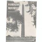 Vintage Washington Monument Travel Brochure 1962