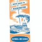 Vintage Quick Guide To Washington Travel Brochure Baltimore & Ohio Railroad 1961