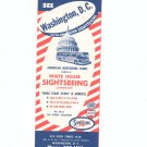 Vintage See Washington D.C. With American Sightseeing 1962 White House Sightseeing