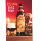 Kahlua Drink & Dessert Recipe Book Cookbook