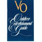 Outdoor Entertaining Guide by Seagram's VO With Recipes
