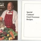 Recipes for the Cuisinart Processor Cookbook Plus Insert by James Beard & Carl Jerome 093666200x