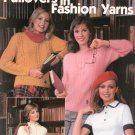 Knitted Pullovers In Fashion Yarns Leaflet 182 Leisure Arts