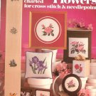 State Flowers Charted For Cross Stitch & Needlepoint by Mansfield Leisure Arts 178 1980