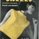 Shells For Every Occasion Knit & Crochet Volume 88 Fleisher Bear Brand Botany Vintage