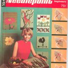 McCall's Needlepoint For Beginners Vintage 1967 42 Designs McCalls