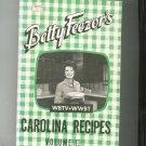Betty Feezor's Carolina Recipes Cookbook Volume II 2 Vintage WBTV WWBT
