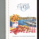 Of Tide & Thyme Cookbook Junior League Annapolis  0964213907