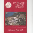 Vintage St. Frances College Maine 1966-1967 Catalog Not PDF