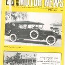 Antique Motor News Magazine April 1977 Vintage Back Issue 1914 Daimler Model 20