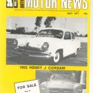Antique Motor News Magazine May 1977 Vintage Back Issue 1953 Henry J Corsair