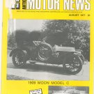 Antique Motor News Magazine August 1977 Vintage Back Issue 1909 Moon Model C