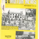 Antique Motor News Magazine September 1977 Vintage Back Issue California Inter Club