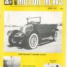 Antique Motor News Magazine June 1977 Vintage Back Issue 1908 Renault 4 Cylinder Tourer
