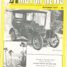 Antique Motor News Magazine October 1977 Vintage Back Issue 1904 Gladiator