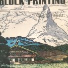 How To Do Linoleum Block Printing by Mary E Hicks Walter T Foster Vintage Art