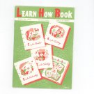 Vintage Learn How Book Number 170-B Coats & Clark's Crochet Knitting Tatting Embroidery