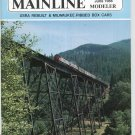 Mainline Modeler Magazine June 1988 Train Railroad  Not PDF Back Issue