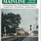 Mainline Modeler Magazine August 1985 Train Railroad  Not PDF Back Issue