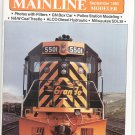 Mainline Modeler Magazine September 1985 Train Railroad  Not PDF Back Issue