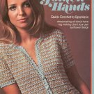 Golden Hands Part 8 Quick Crochet Dressmaking Rug Making Sunflower Vintage