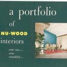 Vintage A Portfolio Of Nu Wood Interiors Nu-Wood Catalog 1952