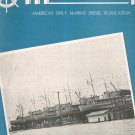 Motorship And Diesel Boating Magazine January 1943 Back Issue Vintage Marine
