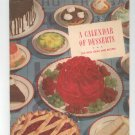 Vintage A Calendar Of Desserts Cookbook By General Foods 365 New Ideas & Recipes