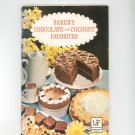 Baker's Chocolate And Coconut Favorites Cookbook Vintage 1965