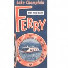Vintage Lake Champlain 1965 Ferry Crossings Schedules Brochure