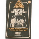 Weber Recipe & Instruction Book Cookbook Grill