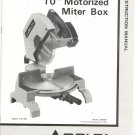 Delta 10 Inch Motorized Miter Box Instruction Manual 34-080