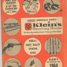 Vintage Kleins Sporting Goods Catalog 1964 Rifles Golf Fishing Guns Plus With Order Blank