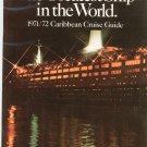 Vintage Queen Elizabeth 2 Caribbean Cruise Guide 1971 1972 Brochure