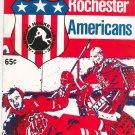 Vintage Rochester Americans Program American Hockey League AHL 1974