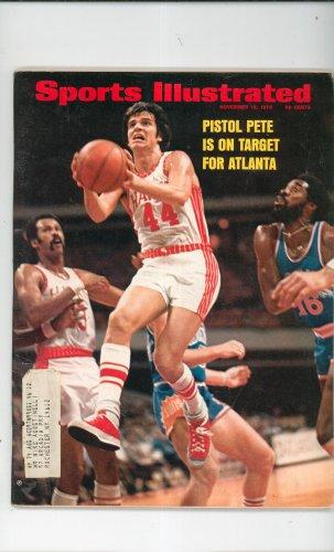 Sports Illustrated Magazine November 12 1973 Atlanta Pistol Pete Basketball