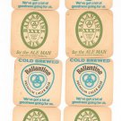 Lot Of 7 Dual Ballantine Beer XXX Ale & Premium Lager Beer Coaster Mat
