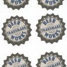 Lot Of 6 Beer Works Trademark Brewery Restaurant Beer Coaster Mat Boston & Salem