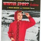 Vintage Men's and Women's Hand Knit Winter Sport Fashions Of Bear Brand & Fleisher Yarns Volume 38