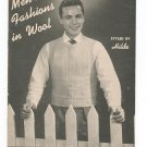 Vintage Men's Fashions In Wool Styled By Hilde Fuchs Volume 54 Knit